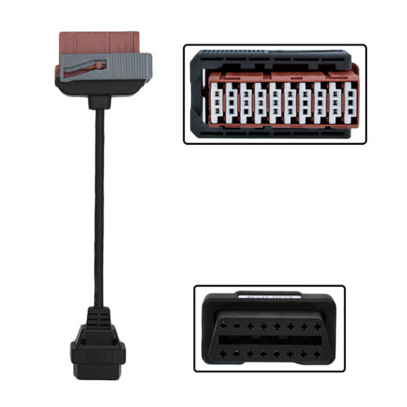 Maozua ciężarówka kable CDP Pro OBD2 kabel samochodowy narzędzie diagnostyczne dla ciężarówek przewód połączeniowy pełny zestaw 8 sztuk ciężarówki kable dla TCS CDP Plus