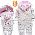 Nwe осень зима детские комбинезоны девочка комбинезон младенцы одежда новорожденные младенцы хлопок детские комбинезоны дети тёплый милый комбинезоны младенцы