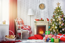 New Arrive Hot Sale Horizontal Christmas tree Photo Backdrops Photo Studio Computer Painted baby Background wall XT-3563