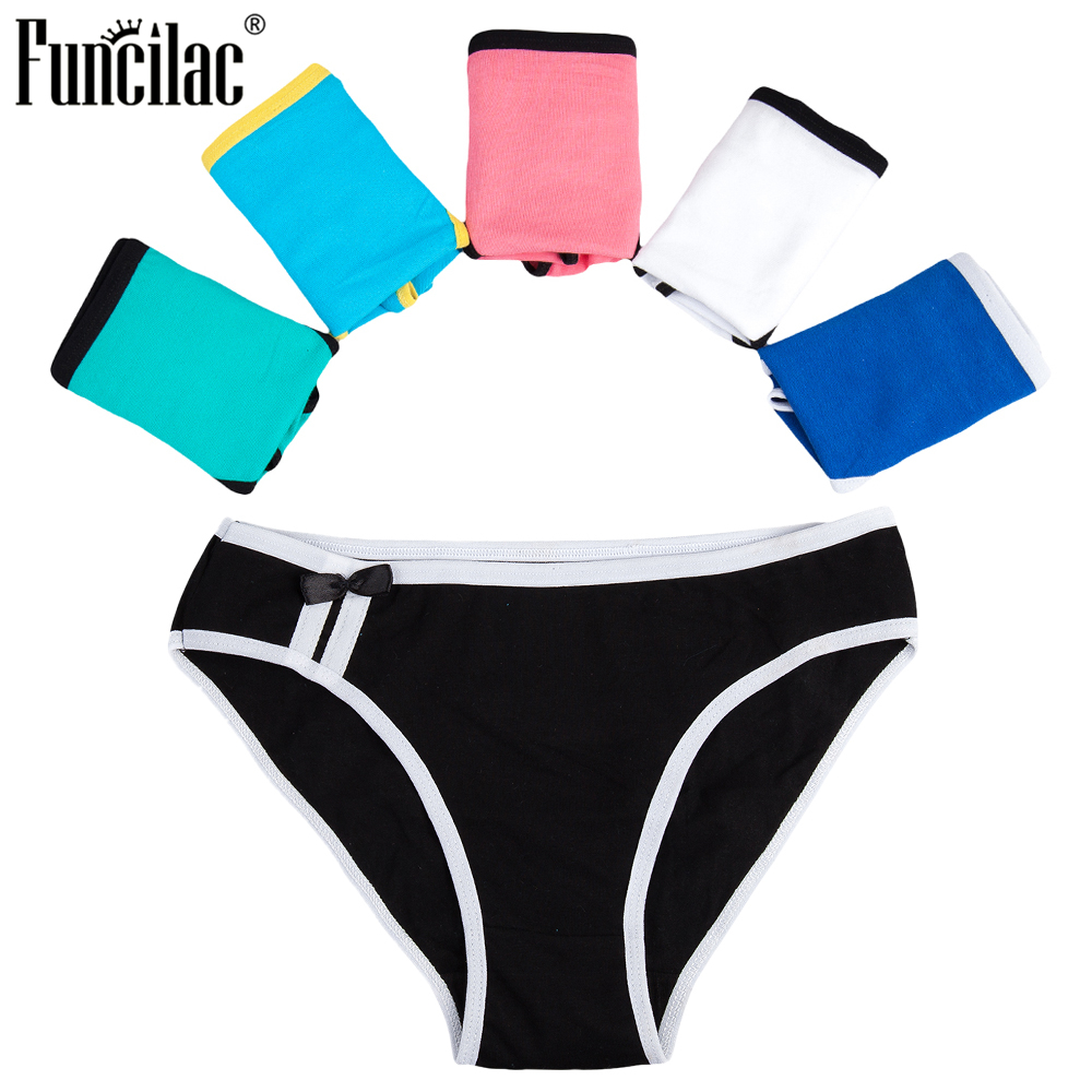 FUNCILAC 6 Pcs/set   Panties   for Woman Cotton Sexy Underwear Ladies Bikini Girls Briefs Soft Knickers Low Waist Intimates Lingerie