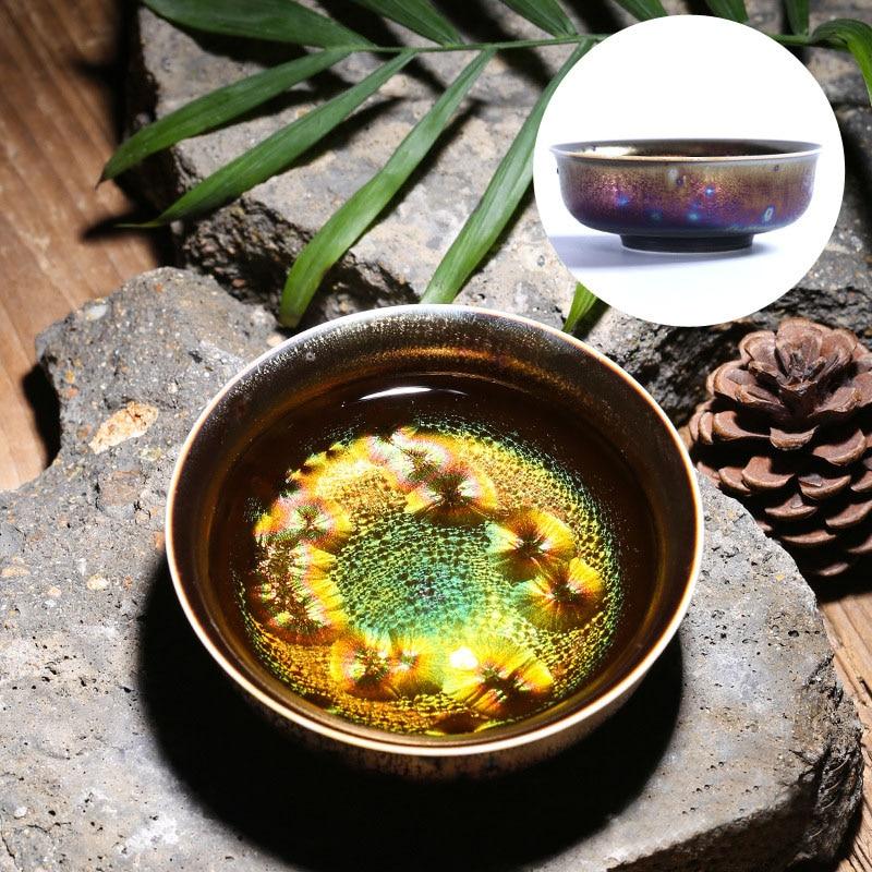 Colorful Temmoku Glaze Teacups