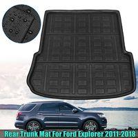 Trunk mat for Ford Rear Cargo Boot Liner Trunk Floor Mat Tray Carpet Mats Mud Kick For Ford Explorer 2011 2012 2013 2014 2018