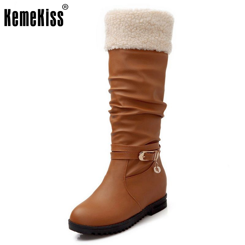Size 34-39 Gladiator Snow Boots Women Flats Half Short Boot Ladies Warm Plush Winter Mid Calf Boots Footwear Shoes Woman купить