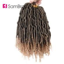 Лучший!  SAMBRAID 14 Дюймов Плетение Крючком Наращивание Волос Весна Твист Волос Для Чернокожих Женщин  Лучший!