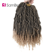 SAMBRAID Passion Spring Twist Hair 14 Inch Crochet Braiding Extensions Faux Locs Synthetic