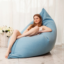 Bean Bag Sofa Cover No Filler Living Room Bedroom Sofa Bed Shell Lazy Casual Tatami Beanbag Chair Couch Cover Pouf Puff
