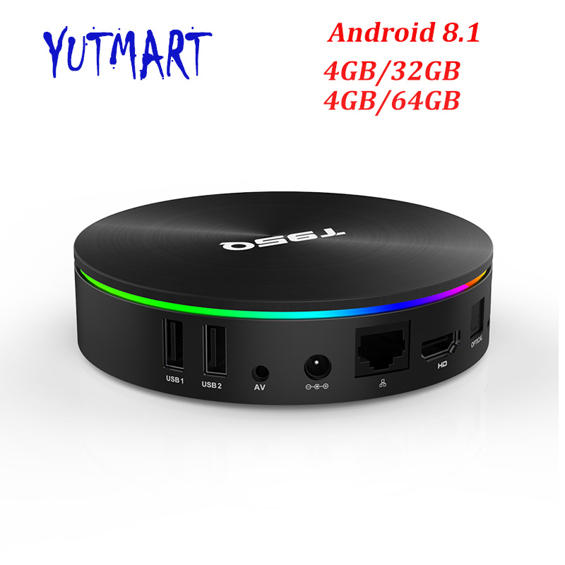 Newest 4GB 64GB Android 8.1 TV Box T95Q Amlogic S905X2 Quad Core 4G/32G Smart 4K Set Top Box 2.4G/5G Dual WIFI Bluetooth new 4gb 64gb usb3 0 quad core smart tv set top box 2 4g 5g wifi for android 8 1