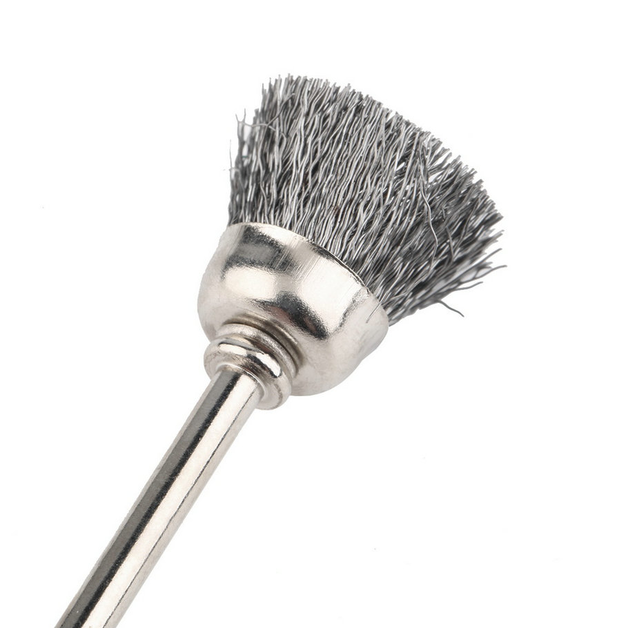 New Brass Wire Wheel Brush Shank Suitable For Rotary Dremel Drill ...