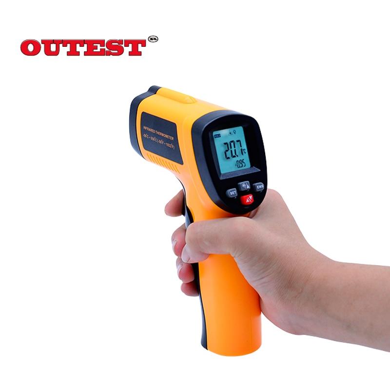 GM550E Non-Contact Infrared <font><b>Thermometer</b></font> Accuracy 1.5C Pyrometer Laser IR temperatureTester Gun -50~550 degree
