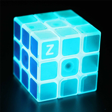New Zcube Bercahaya Biru Cube Linen Finish Sticker Model Cube Cerdas Puzzle Anak Pendidikan Toy