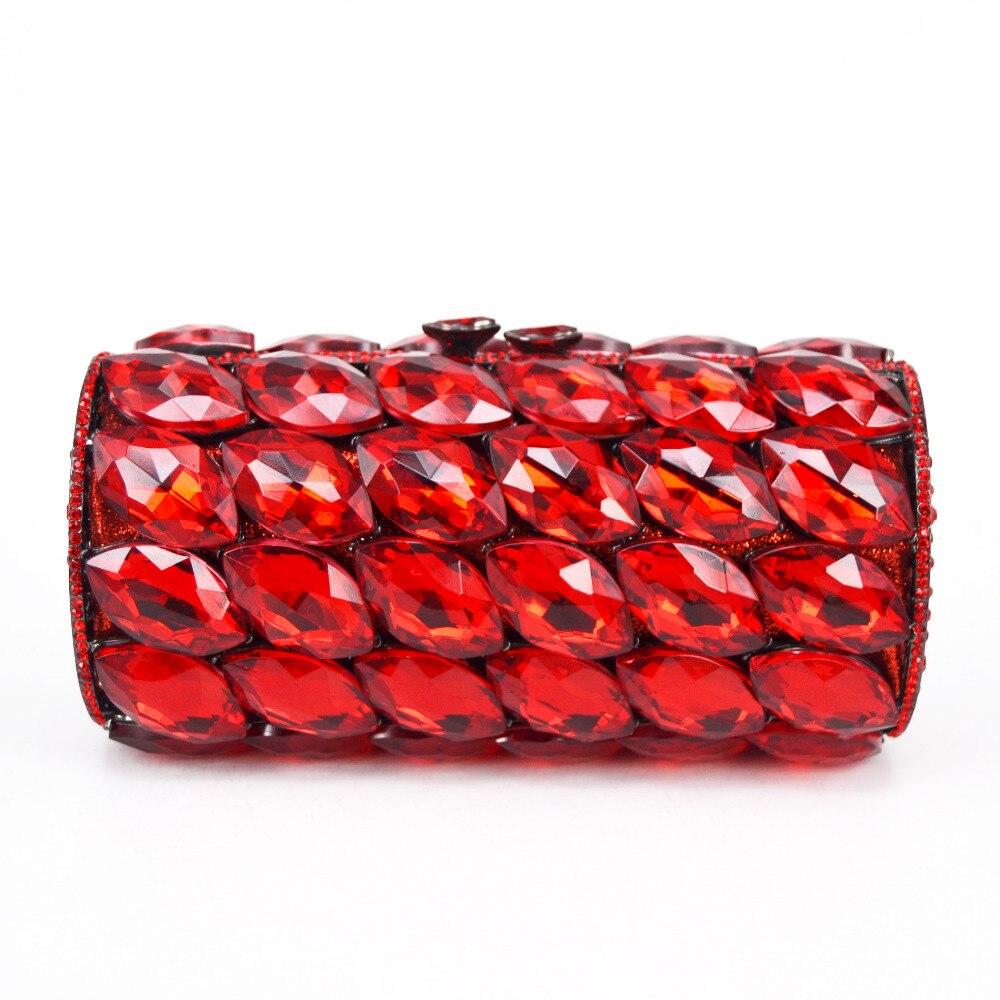 Luksusowe cylindra diament sprzęgło torby kobiety kopertówka czerwony/różowy/niebieski paw ślubna dla nowożeńców torby na ramię torebki damskie SC782 w Sprzęgła od Bagaże i torby na  Grupa 1