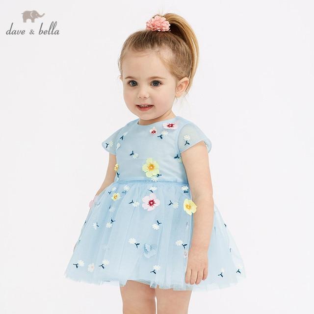 df4e2e49c95d9 US $36.62 49% OFF DB10147 dave bella summer baby girl's princess cute  floral dress children party wedding dress kids infant lolital clothes-in  Dresses ...