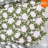 many color laces pink flower green leaf embroidery fabric new guipure cord lace complex embroidery lace guipure fabric latest