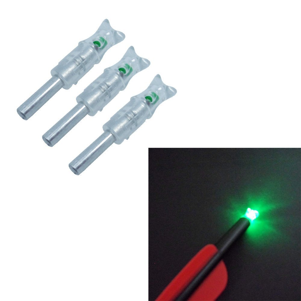 6X Green Automatically Led Lighted luminous tail Crossbow Arrow Nocks with 2X Screwdriver in Bow Arrow from Sports Entertainment