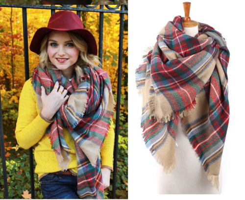 SELLWORLD 16 Styles 2018 Celebrity Big Brand Square Style Women Winter Scarf Long Size Warm Fashion Scarves amp Wraps plaid in Women 39 s Scarves from Apparel Accessories