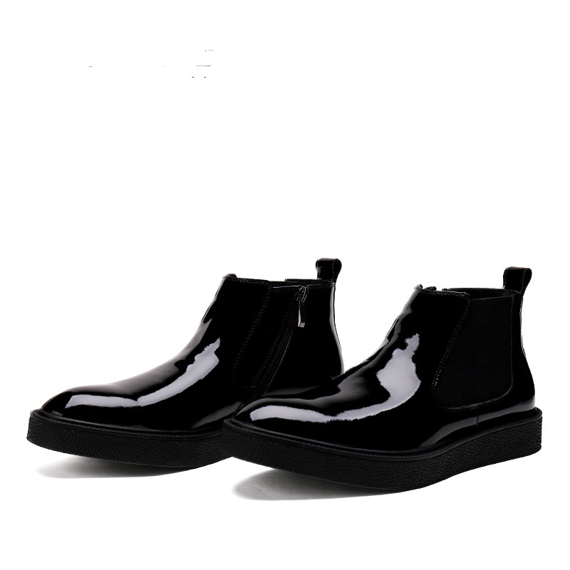 Hombre Black Rojo Para Cremallera Invierno Casuales Zapatos Cuero De red Pisos Libre Botas negro Al Aire xF6qX6RwC