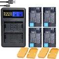 4x LP-E6N LPE6N E6N LP-E6 LPE6 LP E6 Batería de La Cámara digital para canon 5d mark ii iii eos 6d 7d 60d, para canon accesorios