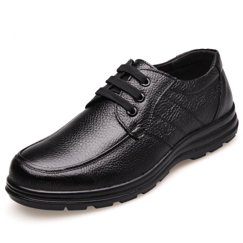 New 2018 High Quality Genuine Leather Shoes Men Flats Fashion Men's Casual Shoes Brand Man Soft Comfortable Lace up Black ZH740 2018 new fashion high top canvas shoes men stitching leather men s casual shoes lace up flats comfortable soft footwear
