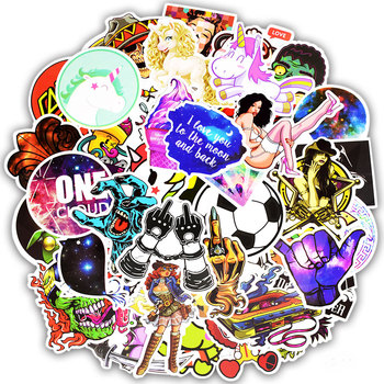 300pcs Graffiti Random Stickers Mixed Anime Rock Cool JDM Stickers DIY Luggage Fridge Laptop Guitar Helmet Waterproof Stickers 1