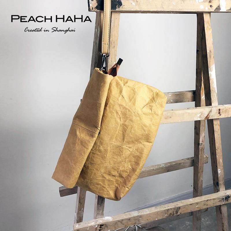 Women's Handbag Waterproof Personality Bag Kraft Paper Clutch Roll Envelope Shoulder Party Purse