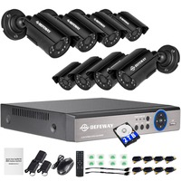 DEFEWAY 4Ch CCTV System 1080P 2MP Video Record 4Pcs 1080PHD Bullet Camera CCTV 1080P 4CH DVR
