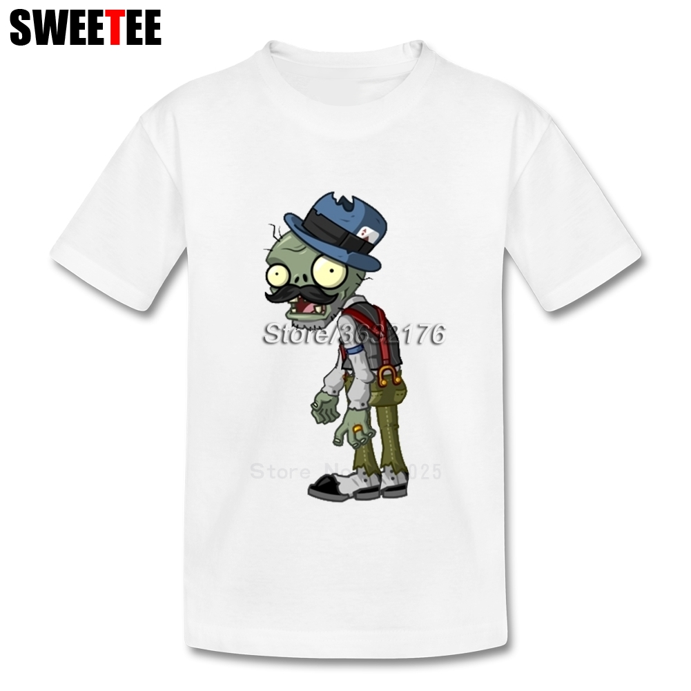 T Shirt kid 2018 T-shirt 100% Cotton Round Neck baby Tshirt Plants VS Zombies kid childrens infant toddler Garment For boy girl