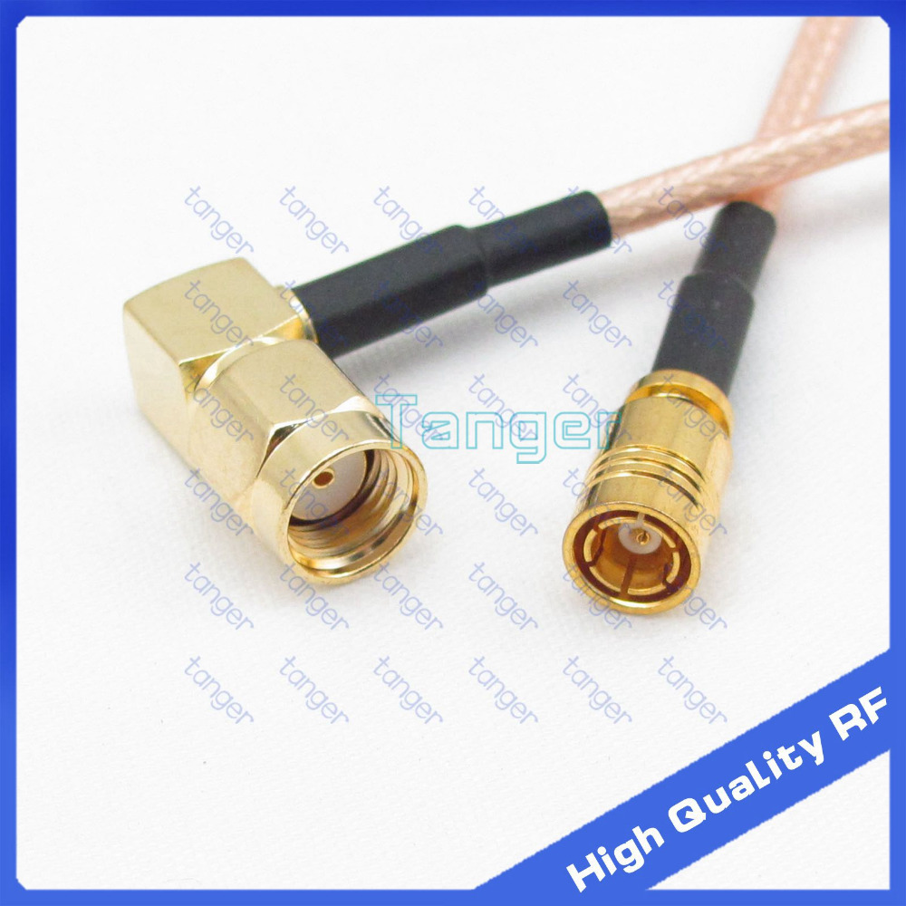 Hot SMB female jack to RP-SMA male connector right angle with 20cm 8inch RF RG316 RF Coaxial Pigtail Low Loss cable High Quality