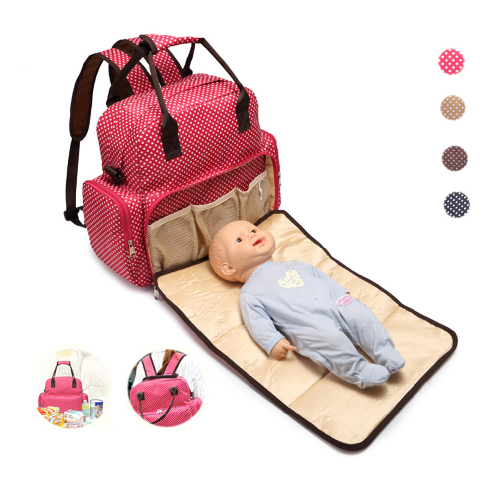 Stylish Baby Care Nappy Changing Multifunctional Infant Bags Mom Diaper Bag Backpack For Stroller Babies Handbag Travel Bag 3 pcs set baby nappy changing bag fashion ladies solid hobos handbag big capacity infant diapering bags travel stroller bag