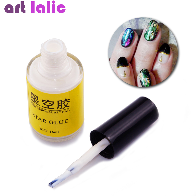 1Pc White Nail Glue For Galaxy Star Foil Stickers Decals Nail Art 16ml Transfer Decoration Nails Tips Adhesives