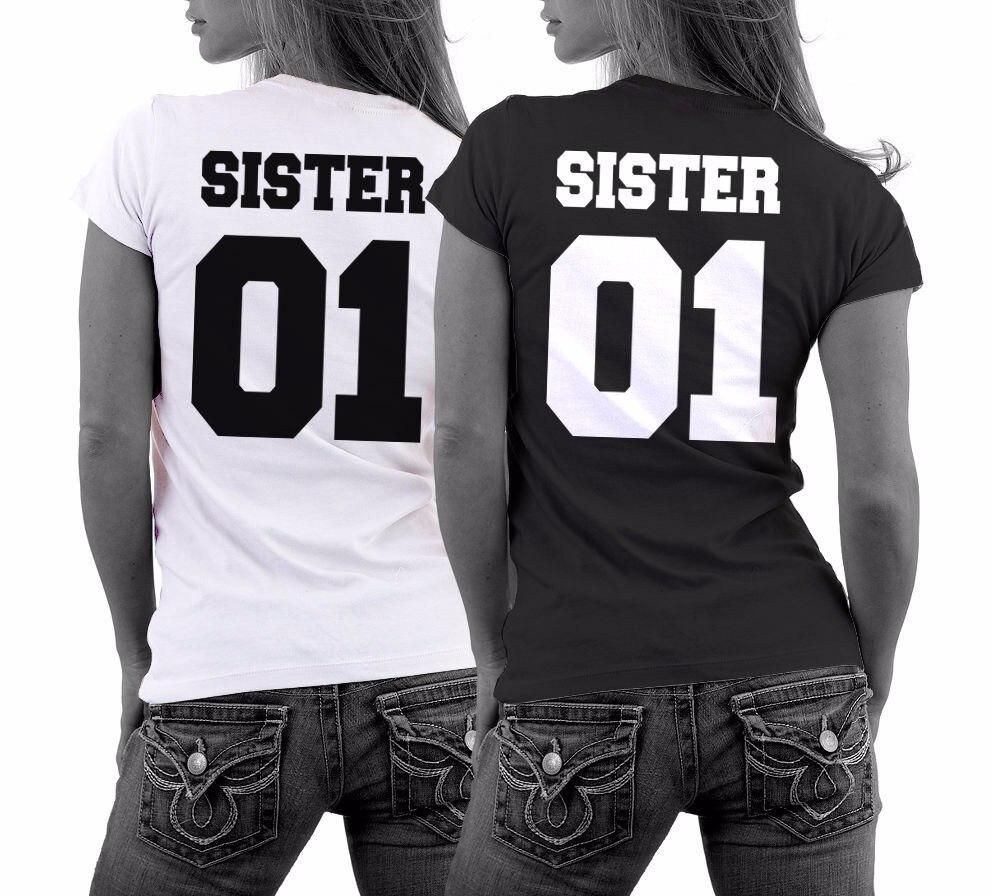Womens T Shirt Best Friends Shirt Sister Girlfriend Couples Bbf T
