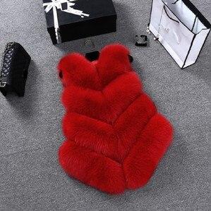 Image 5 - ZADORIN Gilet en fausse Fourrure de renard pour femmes, luxe, grande taille, manteau en fausse Fourrure, court, automne hiver
