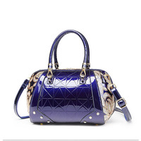 Luxury Sequin Embroidery Women Bag Patent Leather Small Handbag Pillow Shape Ladies Handbags Flower Messenger Shoulder Bag Bolso