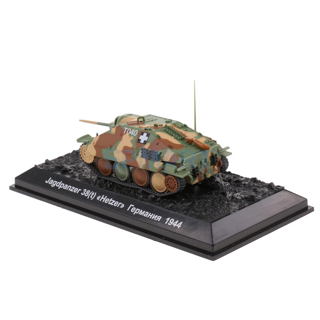 1:72 Scale Diecast Jagdpanzer 38(t) Hetzer Tank WWII Military Vehicle Model Toy Collectibles