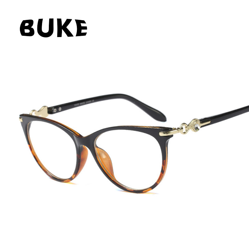 BUKE 2018 Fashion Woman Spectacle Frames Retro Brand Glasses Frame Women Cat's eye eye Glasses Frames Ladies Oculos Eyewear