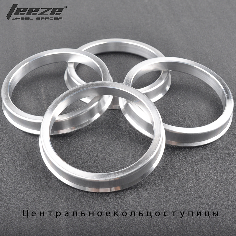 Car-styling Car Accessories Aluminum Alloy Wheel Centrice Hub Rings OD 73.1 To 64.1 Spigot Center Ring 4 Pieces/set