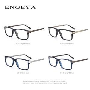 Image 4 - Men Glasses Clear Fashion Brand Designer Optical Eyeglasses Frame Transparent Glasses Men High Quality Prescription Eyewear #134