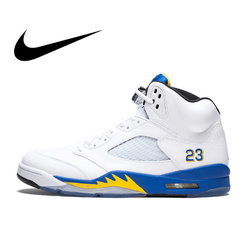 Original Authentic Nike Air Jordan 5 Retro Laney Men's Breathable Basketball Shoes Sport Outdoor Sneakers 2018 New Arrival