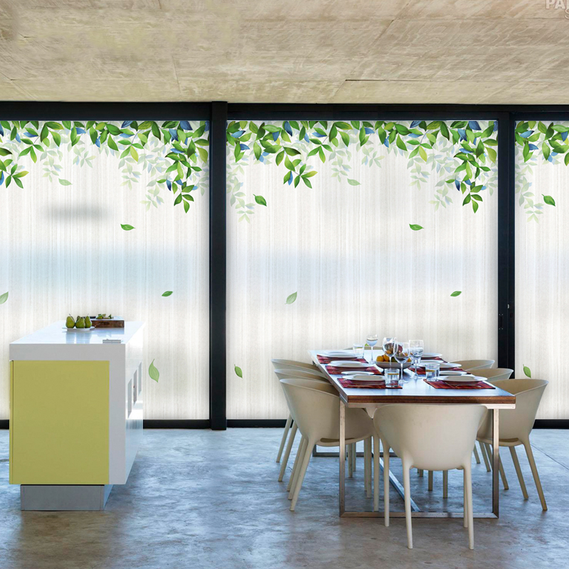 Free size custom decorative glass window film static cling no glue removable film for office sunroom