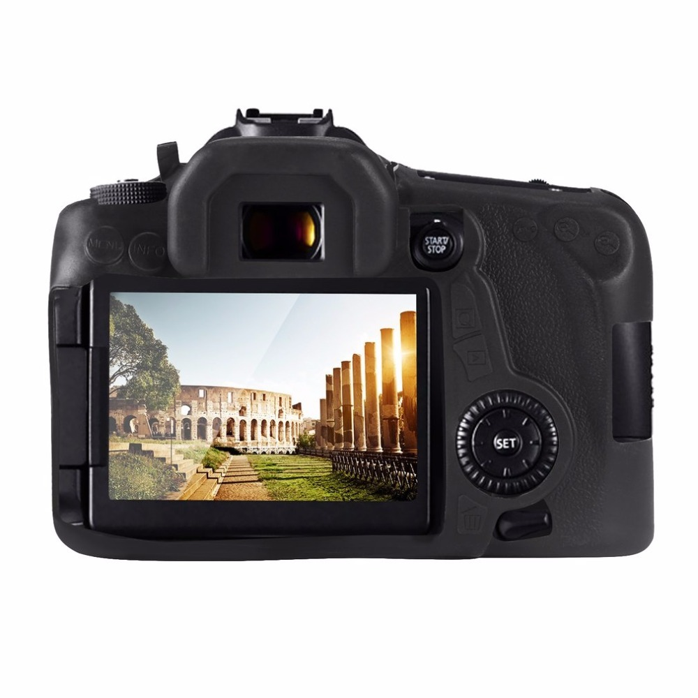 Durable Soft Silicone Rubber Case Camera Protective Body Cover Case Bag for Canon EOS 70D 2018 New Arrival dropshipping