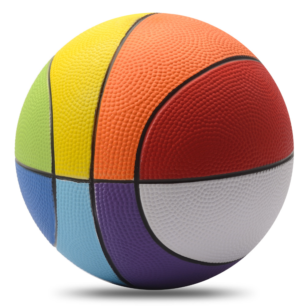 Basketball Ball Us 38 Children Professional Training Basketballs 100 Non Toxic Pu Materials Ball Basketball Rainbow Basketball For Kid 8inch20cm Size In Toy Balls