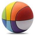 Niños Pelotas de Baloncesto de Formación Profesional 100% No Tóxico Materiales de LA PU Arco Iris Pelota de Baloncesto de Baloncesto Para Niños 8Inch20cm Tamaño