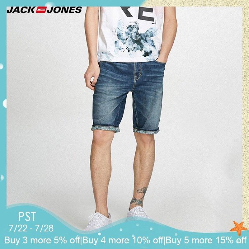 JackJones Men's Spring & Summer Slim Fit Denim   Shorts   |218243516