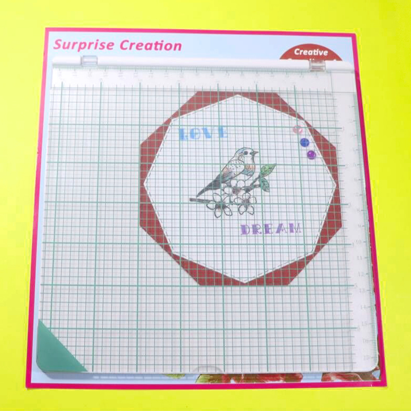 "Surprise Creation Big Size Stamping Tool 20.3x20.3cm(8x8"") - Perfect Positioning & Stamping For Clear Stamps(China)"