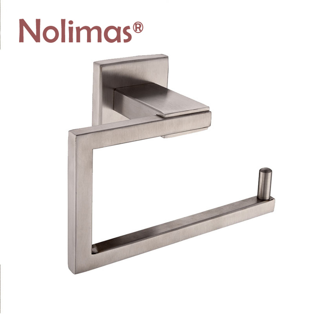 sus 304 stainless steel paper roll holder chrome brushed toilet paper holder tissue shelf. Black Bedroom Furniture Sets. Home Design Ideas
