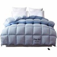 2,5 кг одеяло пододеяльник Король Королева двойной размер белый/синий/розовый/коричневый роскошный зимний одеяло наполнитель