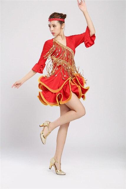 c2333e13b Adult Latin Dance Dresses For Tassel style Cha Cha/Rumba/Samba/Ballroom/