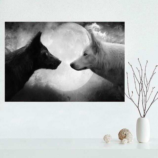 Us 353 16 Offładne Niestandardowe Zwierząt Wilk 02 Plakat Na Płótnie Malarstwo ścienne Sztuki Jedwabny Plakat Tkanina Druku Plakat W ładne