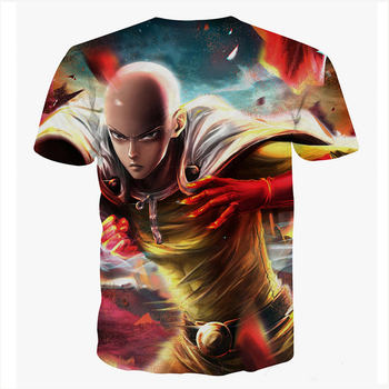 Fashion One Punch Man T Shirts Men's Tops Anime Hero Saitama Casual Short Sleeve T-shirt Fashion 3d Cartoon Printed Tops 1