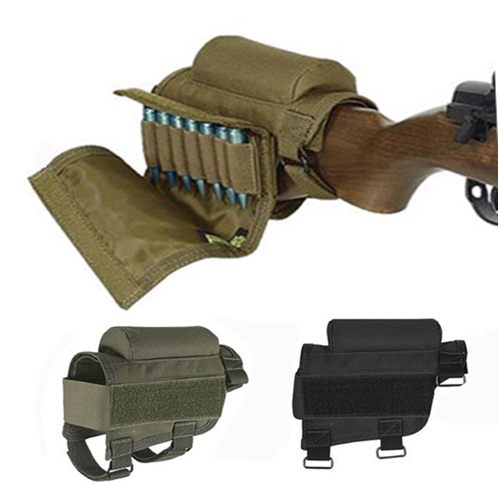 Jakt Shotgun Airsoft Patron Belt Tactical Gauge Ammo Hållare Tillbehör Military Gun Tactical Crown Cheek