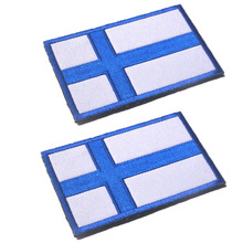 5PCS/LOT FLAG PATCH PATCHES FINLAND FINNISH SEW ON COUNTRY EMBROIDERED WORLD FLAG APPLIQUE пижама music finnish